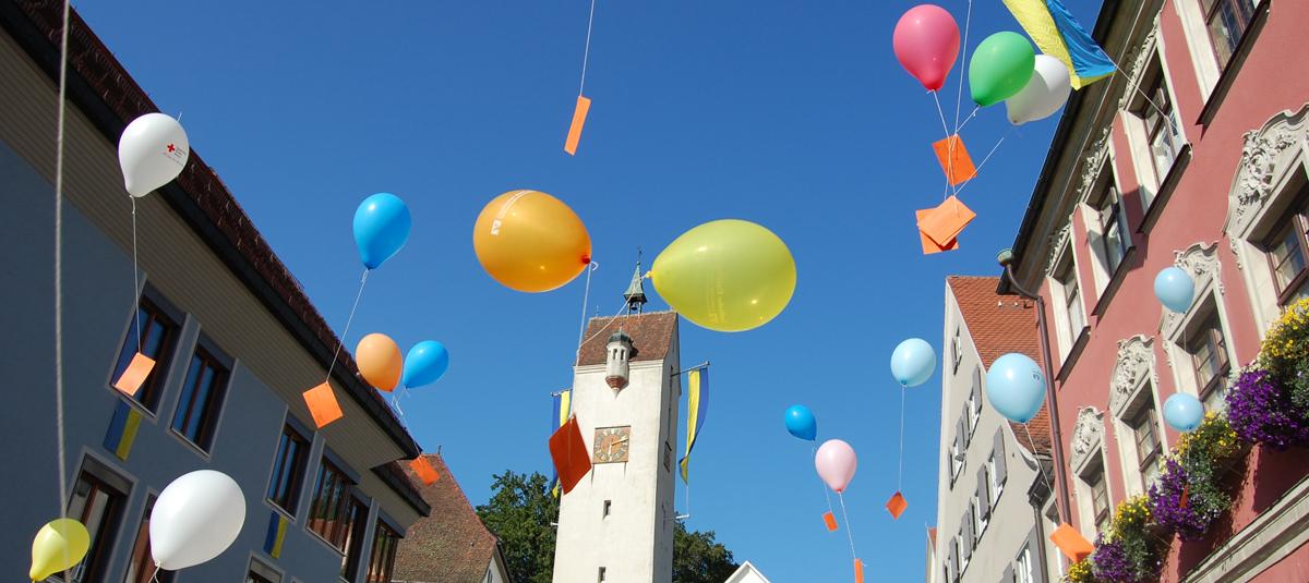 Luftballonstart bei Abschluss