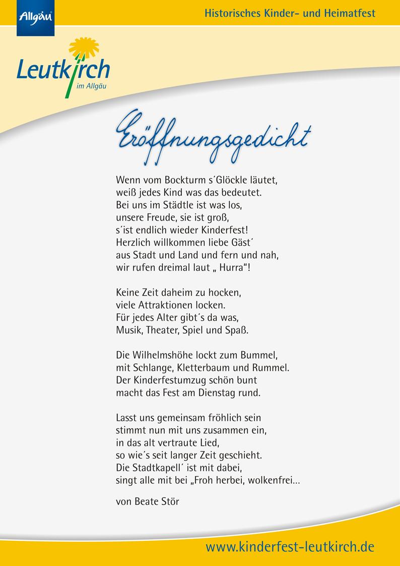 Eröffnungsgedicht