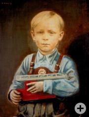 Portrait Günther Magenau Öl-Holz um 1952 60x45cm