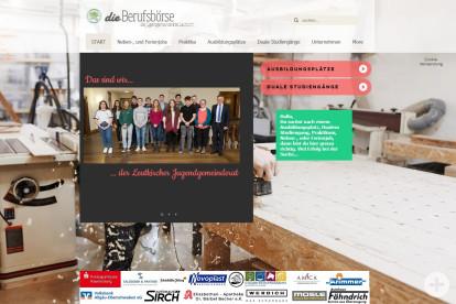 Screenshot www.berufsboerse-leutkirch.de