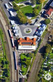 Bahnhof Leutkirch - Früher führte das Gleis rechts nach Isny